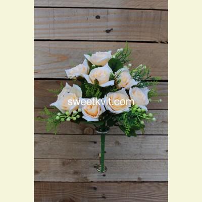 Искусственная роза букет, 30 см