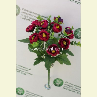 Искусственная роза пионовидная букет