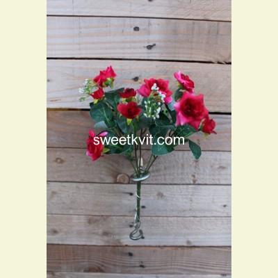 Искусственная роза букет, 29 см