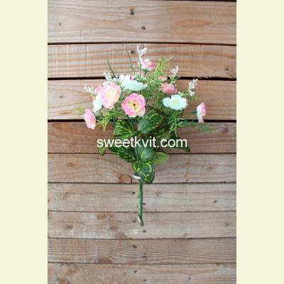 Искусственная роза букет, 32 см