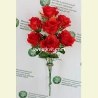 Искусственная роза букет, 44 см