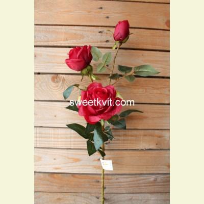 Искусственная роза ветка