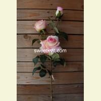 Искусственная роза ветка, 90 см