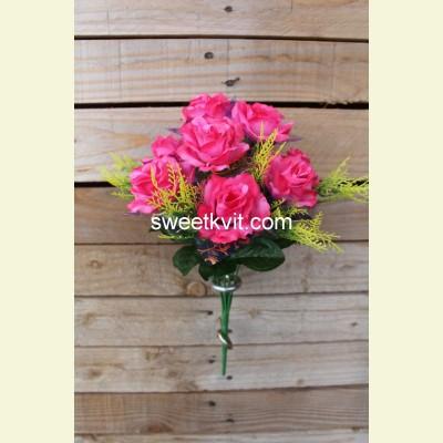 Искусственная роза букет, 35 см