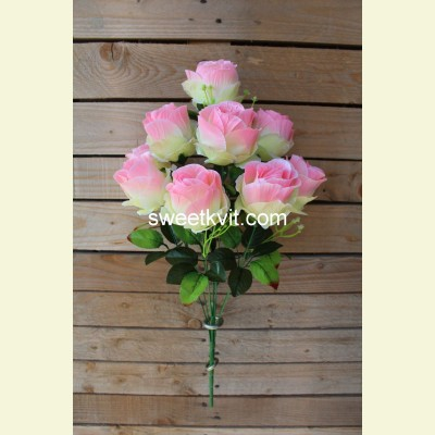 Искусственная роза букет, 60 см