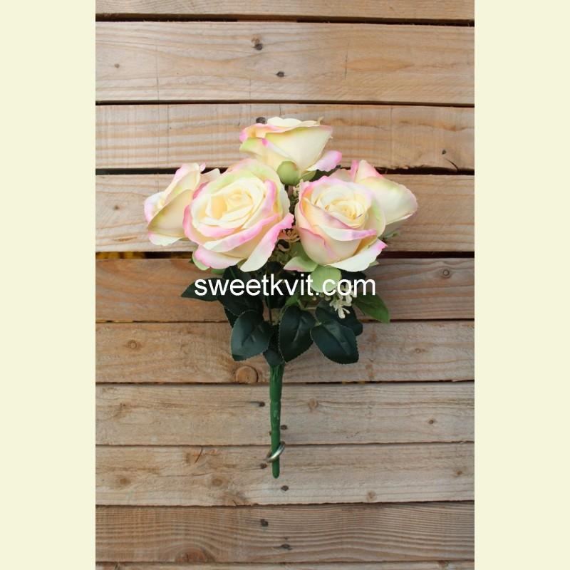 Искусственная роза букет, 36 см
