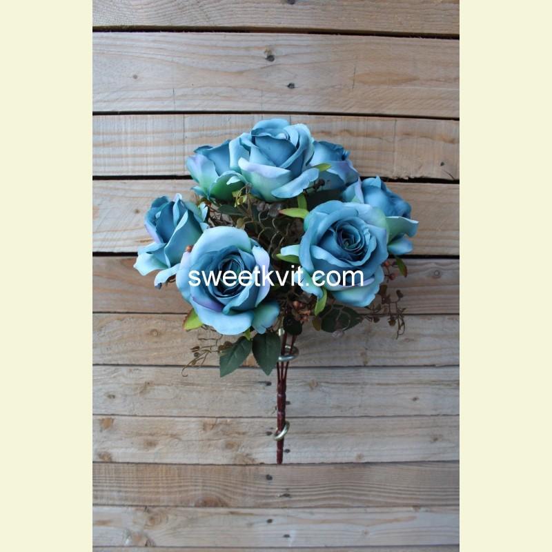 Искусственная роза букет, 42 см