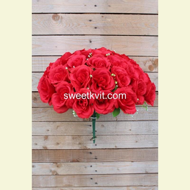 Искусственная роза букет, 45 см