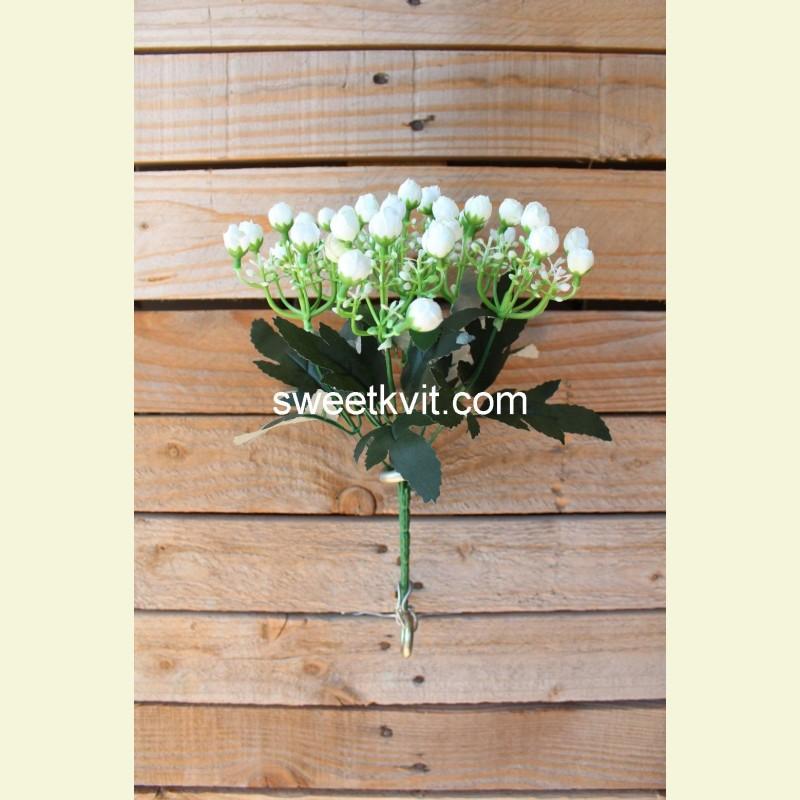 Искусственная роза первоцвет букет, 27 см