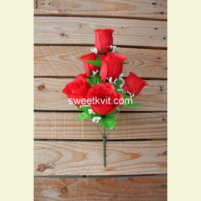 Искусственная роза букет, 33 см