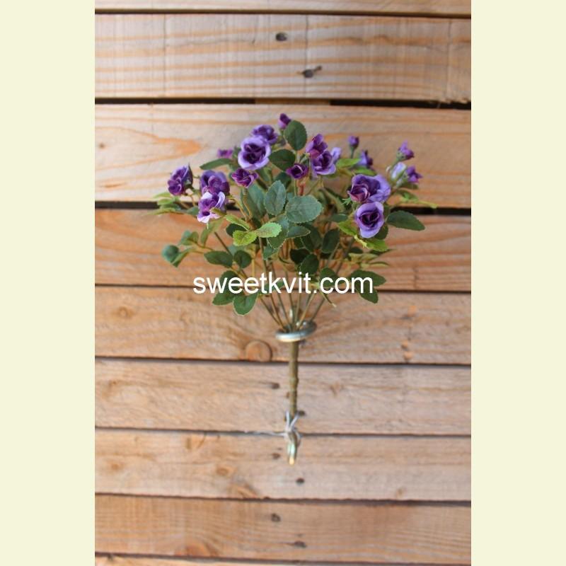Искусственная роза букет, 26 см