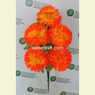 Искусственная хризантема букет, 57 см