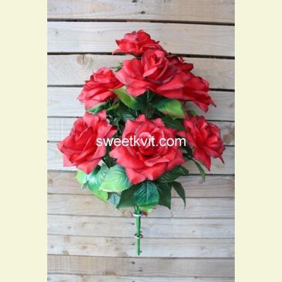 Искусственная роза букет, 65 см