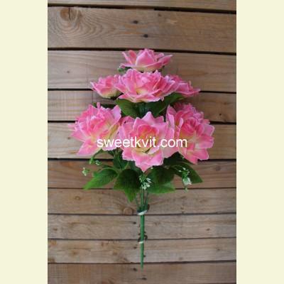 Искусственная роза букет, 50 см