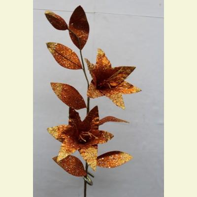 Искусственная лилия ветка, 80 см