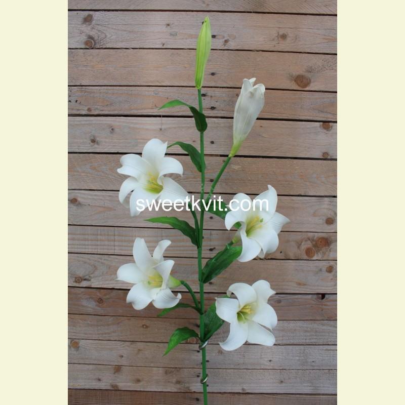 Искусственная лилия ветка, 120 см
