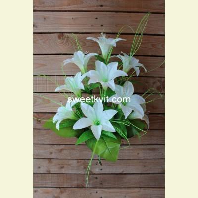 Искусственная лилия букет, 55 см