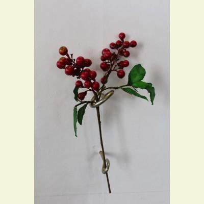 Искусственные ягоды. Брусника ветка, 15 см