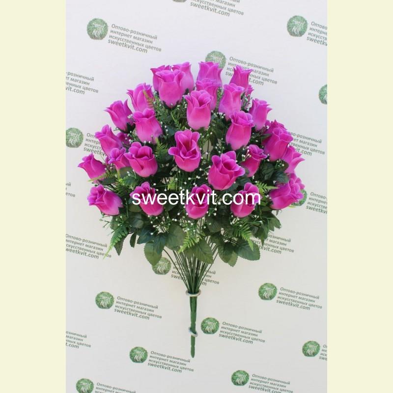 Искусственная роза букет, 70 см