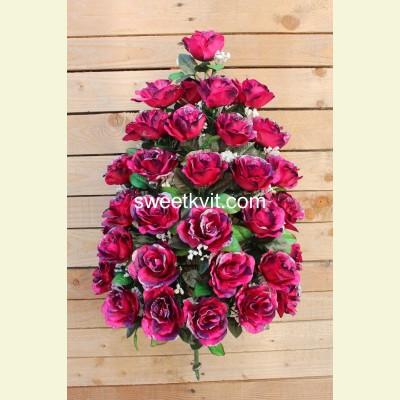 Искусственная роза букет, 75 см