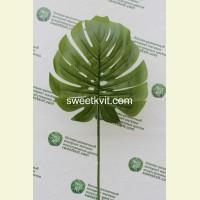 Искусственный лист монстеры, 82 см