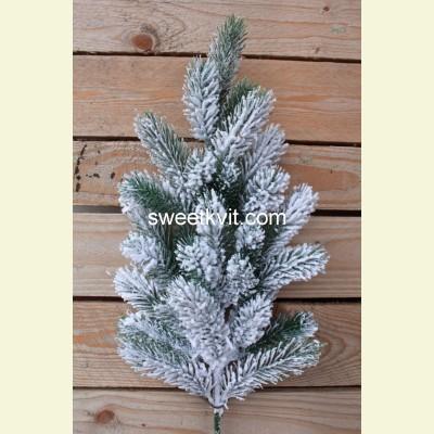 Искусственная заснеженная ель ветка, 65 см