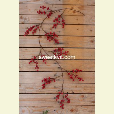 Искусственные ягоды. Ветка, 113 см