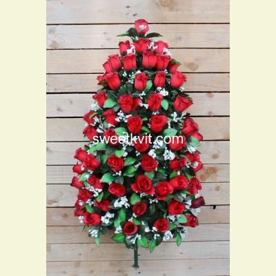 Искусственная роза букет, 95 см
