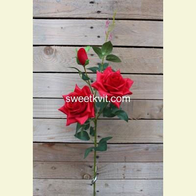 Искусственная роза ветка, 85 см