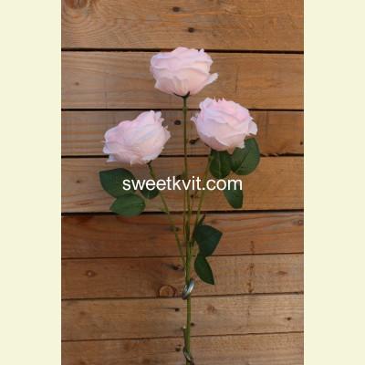 Искусственная роза ветка, 65 см