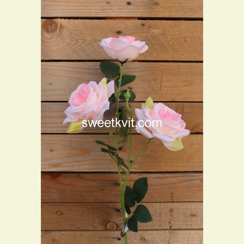 Искусственная роза ветка, 70 см