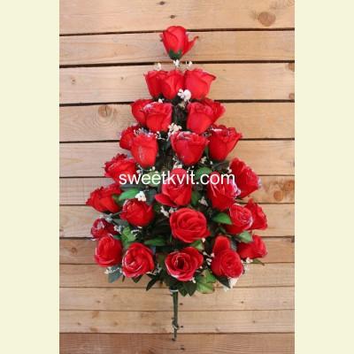 Искусственная роза букет, 80 см