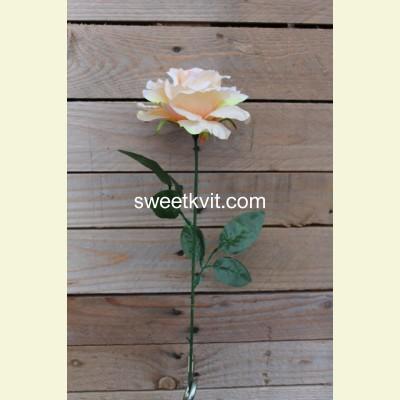 Искусственная роза одиночная