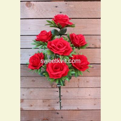 Искусственная роза букет, 58 см
