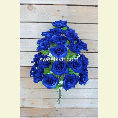 Искусственная роза букет, 55 см