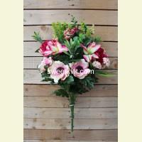 Ритуальный букет пион, анемон, лилия