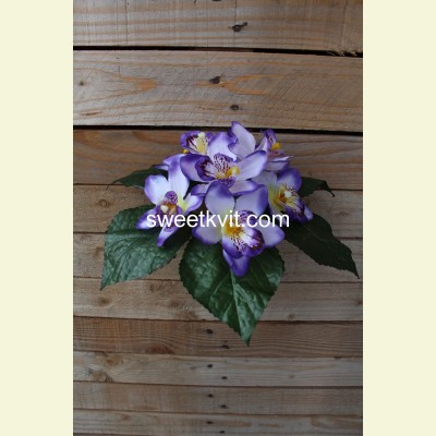 Искусственная орхидея букет, 17 см