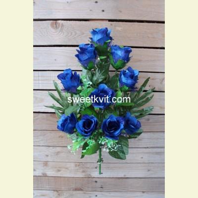 Искусственная роза букет, 57 см