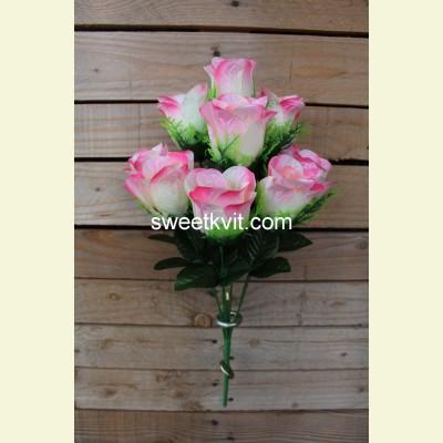 Искусственная роза букет, 48 см