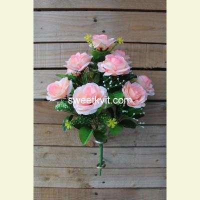Искусственная роза букет, 40 см