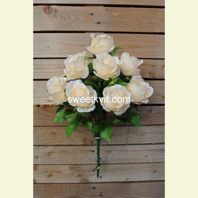 Искусственная роза букет, 49 см