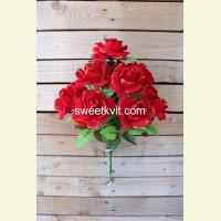 Искусственная роза букет, 41 см