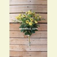 Искусственная роза букет, 28 см