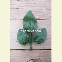 Искусственный лист розы, 12,7 см
