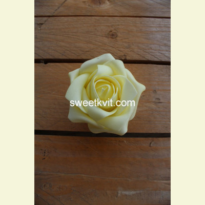 Искусственная роза - насадка, Ø 8 см