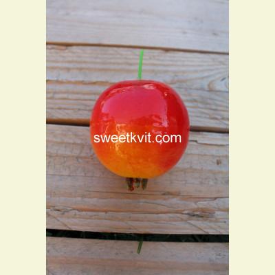 Искусственные фрукты. Гранат, 7 см