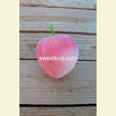 Искусственные фрукты. Персик, 8 см