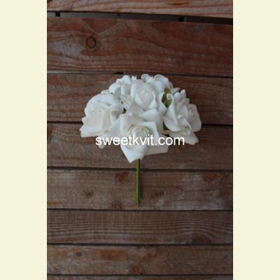 Искусственная роза пучок, 22 см