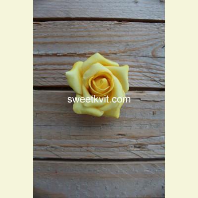 Искусственная роза - насадка, Ø 7 см