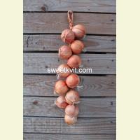 Искусственные овощи. Лук, вязанка 48 см